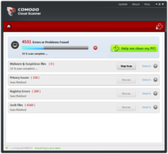Comodo Cloud Scanner screenshot